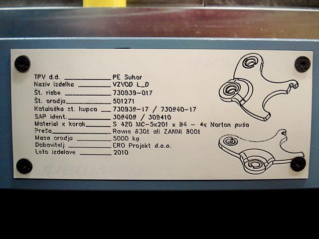 Ero Projekt d.o.o. Toolshop-Werkzeugbau-Progresivno orodje za štancanje krivljenje progressive stamping bending tool biege stantzwerkzeuge c 1